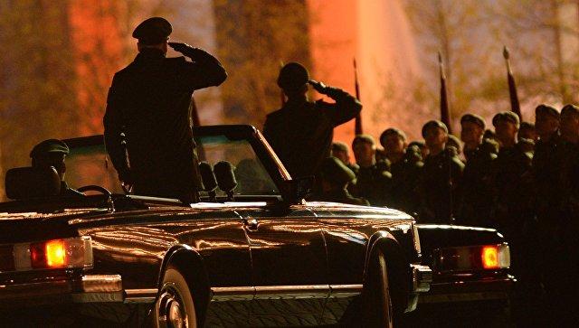В столицеРФ  прошла 2-ая  ночная репетиция Парада Победы