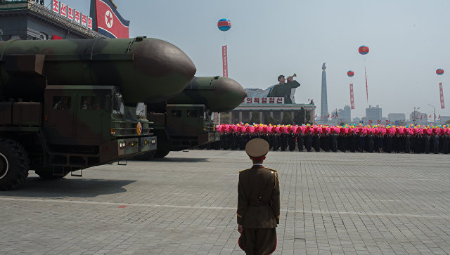 Пусковые установки межконтинентальных баллистических ракет Корейской народной армии. Архивное фото