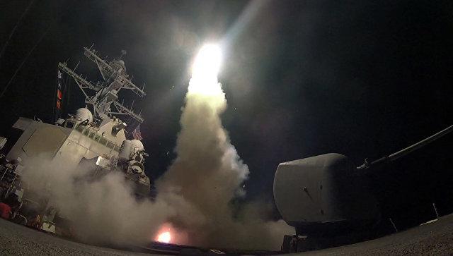 Запуск ракеты с эсминца USS Porter (DDG 78) в Средиземном море. Архивное фото