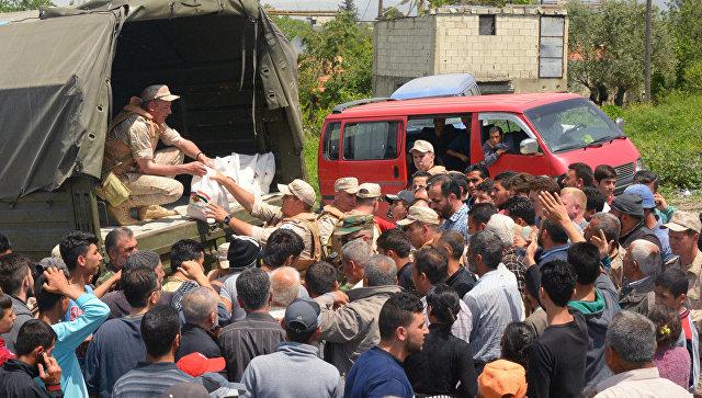 Российская Федерация провела вСирии восемь гуманитарных акций засутки