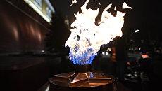 Профилактика горелки Вечного огня в Александровском саду. Архивное фото