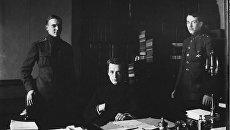 Александр Керенский с помощниками. 1917 год
