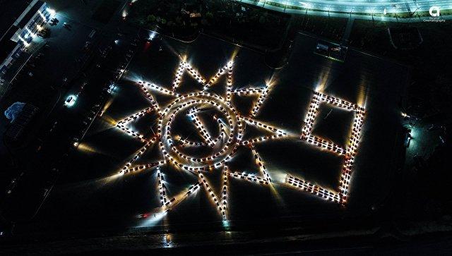 Флешмоб хабаровских автомобилистов, посвященный Дню Победы
