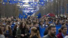 Празднования 9-й годовщины независимости Республики Косово. Архивное фото