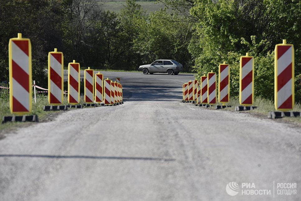 Участок строительства федеральной трассы Таврида в Крыму