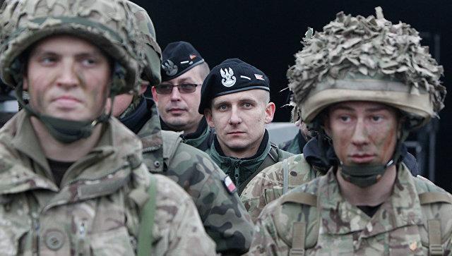 Солдаты НАТО на учениях в Польше. Архивное фото.