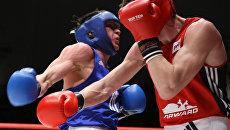 Боксерский поединок. Архивное фото