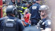 Место наезда автомобиля на людей на Таймс-Сквер в Нью-Йорке. 18 мая 2017