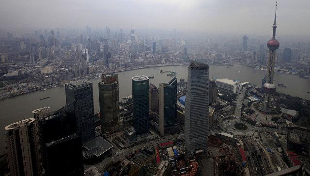 Вид на Шанхай, Китай. Архивное фото