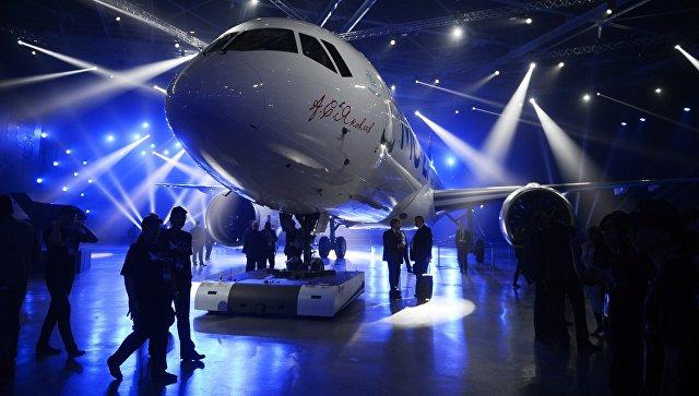 Церемония выкатки магистрального самолета МС-21-300 на Иркутском авиационном заводе корпорации Иркут. Архивное фото