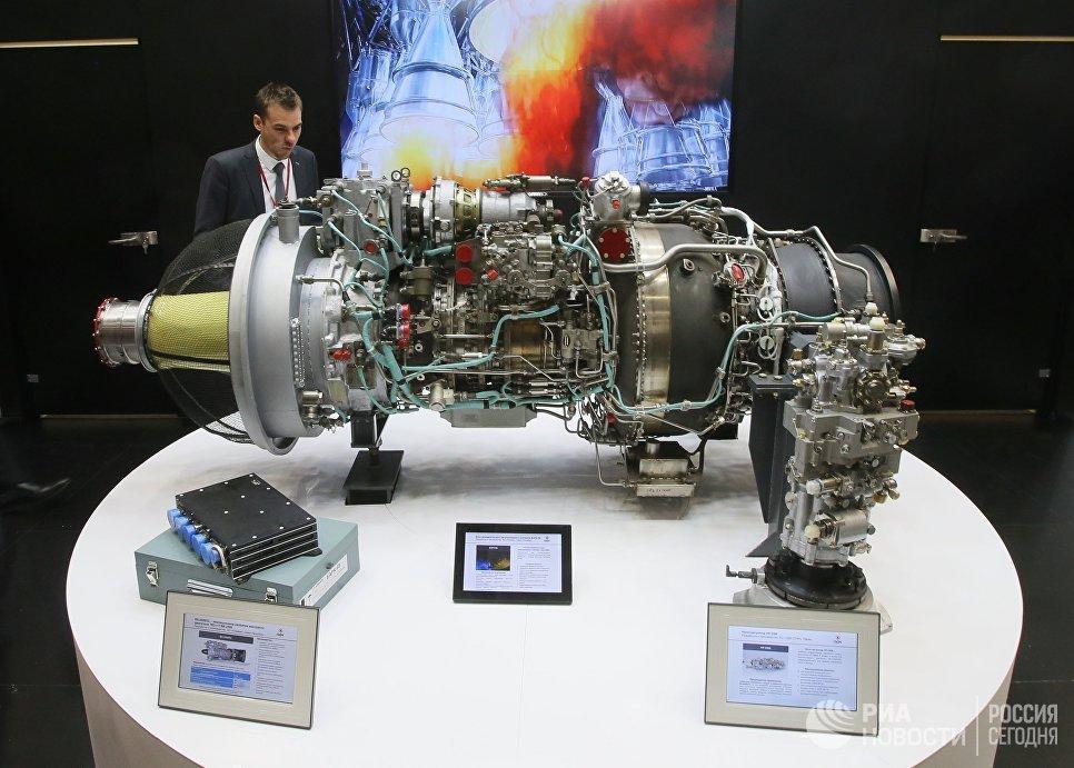 Двигатель ВК-2500ПС и блок автоматического регулирования и контроля БАРК-6В на X международной выставке вертолетной индустрии HeliRussia в Международном выставочном центре Крокус Экспо в Москве