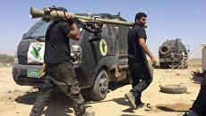Иракские контртеррористические силы возле города Фаллуджи