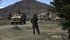 Военные США и Афганистана в районе Асина Джалалабада, к востоку от Кабула, Афганистан