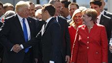 Президент США Дональд Трамп и президент Франции Эммануэль Макрон. Архивное фото
