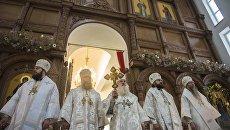 Освящение православного храма в Бишкеке. Архивное фото