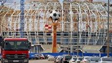 На территории строительства стадиона Мордовия Арена. Архивное фото
