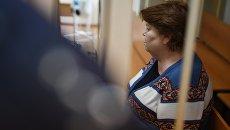 Бывший главный бухгалтер театральной труппы Седьмая студия Нина Масляева на заседании в Пресненском суде Москвы
