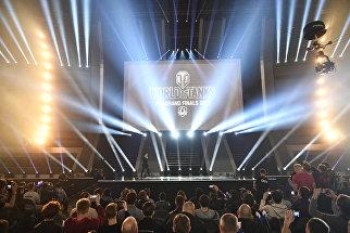 Зрители перед началом финального этапа гранд-финала по World of Tanks в комплексе ВТБ Ледовый дворец в Москве