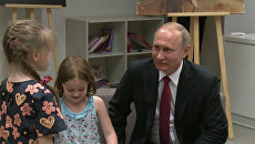 Дети в Париже прочитали Путину стихи Пушкина