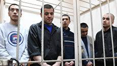 Обвиняемые по делу о теракте в метро Санкт-Петербурга на заседании Басманного суда города Москвы. 30 мая 2017