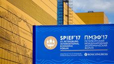 Символика Санкт-Петербургского международного экономического форума-2017. Архивное фото