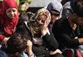 Беженцы-мусульмане на границе