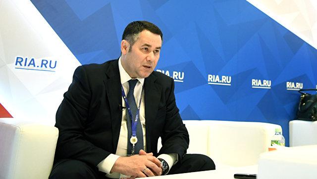 Тверской губернатор Руденя стал четвертым в медиарейтинге глав регионов ЦФО