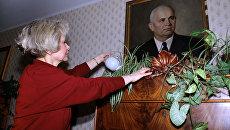 Юлия Хрущева в своей квартире