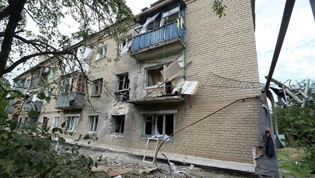 Ситуация в Марьинке Донецкой области, архивное фото