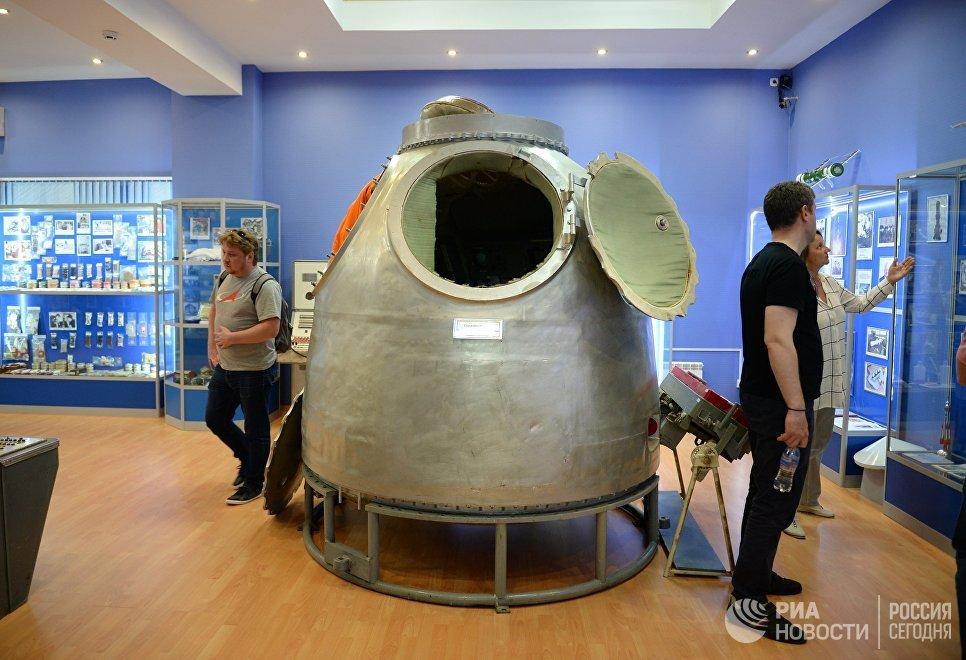 Спускаемый аппарат космического корабля Союз в музее истории космодрома Байконур