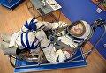 Скафандр дважды героя Советского союза, летчика-космонавта СССР Николая Рукавишникова в музее истории космодрома Байконур