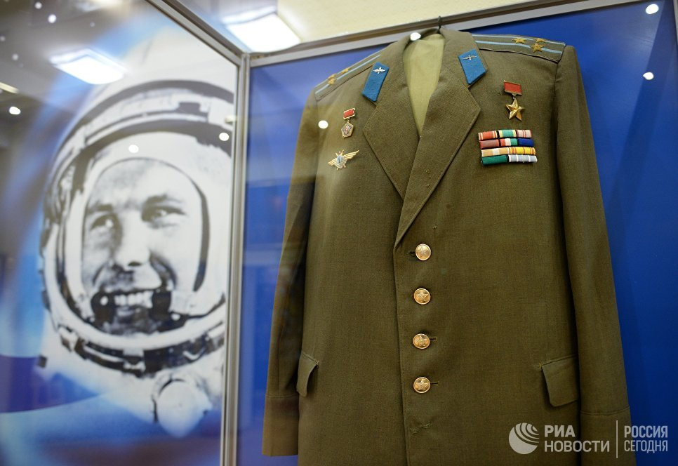 Экспозиция, посвященная летчику-космонавту Юрию Гагарину, в музее истории космодрома Байконур