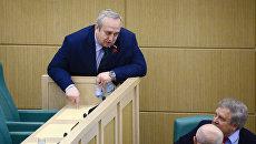 Франц Клинцевич на заседании Совета Федерации РФ. архивное фото