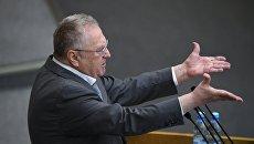 Владимир Жириновский на пленарном заседании Государственной Думы РФ. 14 июня 2017