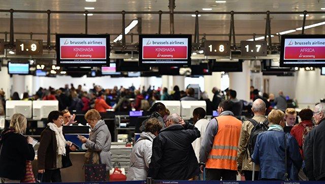 Международный аэропорт Брюсселя навсе 100%  блокирован из-за пожара