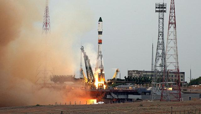Запуск ракеты Союз-2-1А на космодроме Байконур. Архивное фото