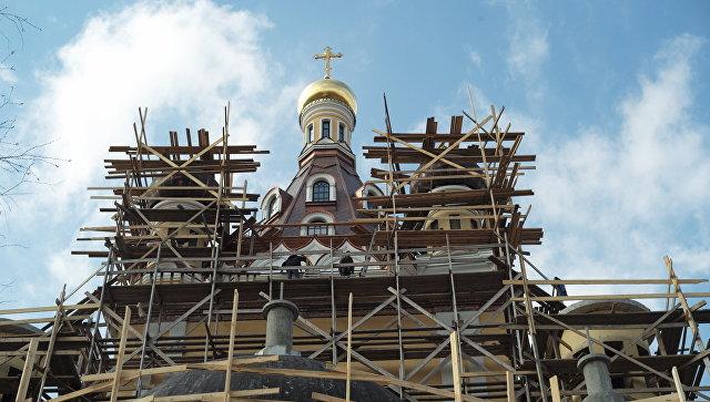 Строительство храма Сретения Господня в Жулебино