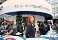 Стенд государственной корпорации по атомной энергии Росатом на IX Международном форуме Атомэкспо в Москве