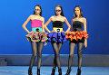 Показ новой коллекции одежды дизайнера Пьера Кардена в Государственном Кремлевском Дворце. 2011 год