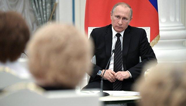 Президент РФ Владимир Путин во время встречи с членами Общественной палаты шестого состава. 20 июня 2017