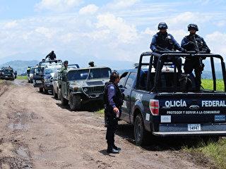Посты полиции и армии Мексики. Архивное фото