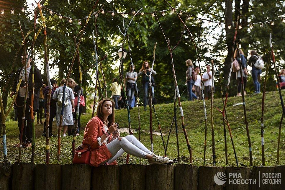 Посетительница на фестивале Bosco Fresh Fest 2017 в московском музее-заповеднике Царицыно