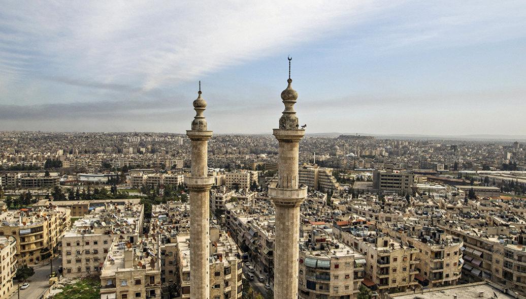 Вид на сирийский город Алеппо. Сирия, архивное фото