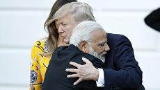 Премьер-министр Индии Нарендра Моди и президент Дональд Трамп во время встречи в Белом доме. 26 июня 2017