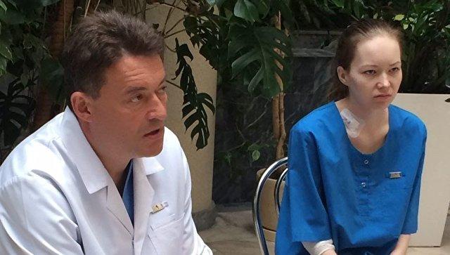 Дарья Старикова в НИИ онкологии им. П.Герцена . Архивное фото