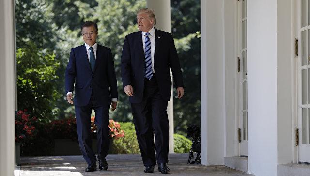 Трамп обсудил спрезидентом Южной Кореи ситуацию вКНДР