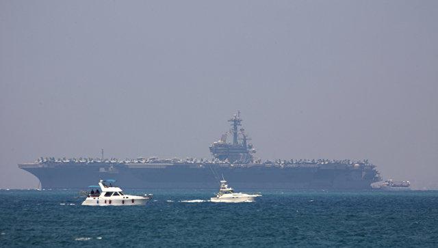 Американский авианосец GeorgeHW Bush прибыл свизитом вИзраиль