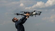 Демонстрационные полеты беспилотных летательных аппаратов. Архивное фото