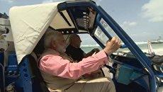 Нетаньяху и Моди катаются на багги для очистки воды