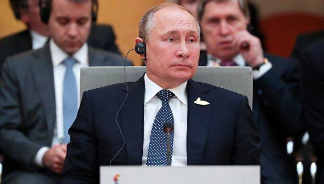 Владимир Путин на встрече лидеров стран БРИКС в преддверии саммита Группы двадцати G20 в Гамбурге. 7 июля 2017